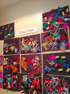 PreK/K 5 senses activity: texture collages. Rough, soft, etc.  - great idea for preschool class during 5 senses week