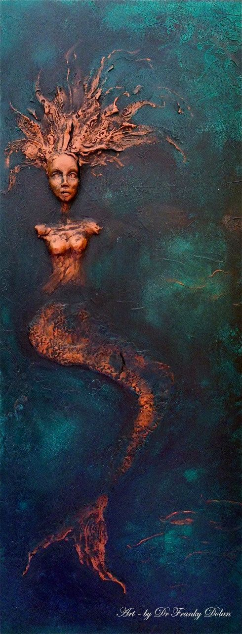 De'Heavenly Gems love: Mermaid. Wall Sculpture