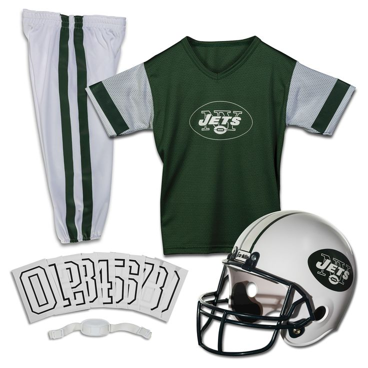 Franklin Sports NFL New York Jets Deluxe Uniform Set, Kids Unisex, Size: Medium