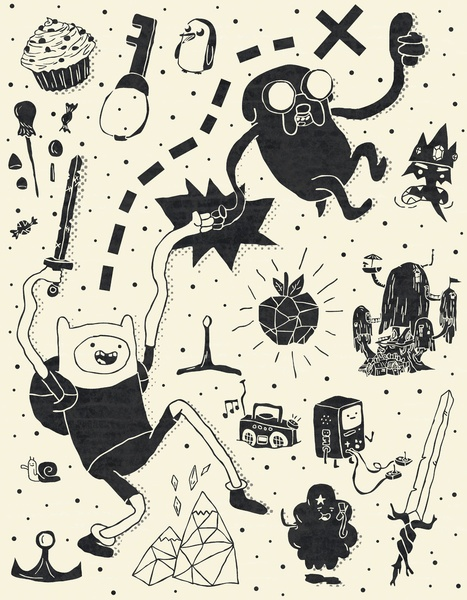 Likes: Adventure Time Art Print