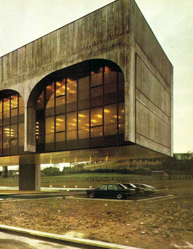 FATA Headquarters, Milan, Italy, 1975. Architect: Oscar Niemeyer