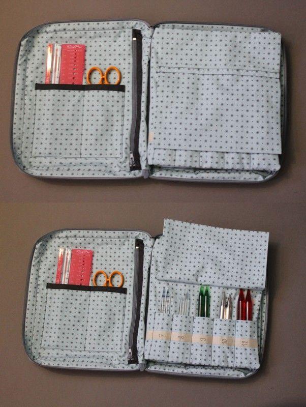 Valisette pour aiguilles et accessoires tricots : superbe réalisation et astucieuse