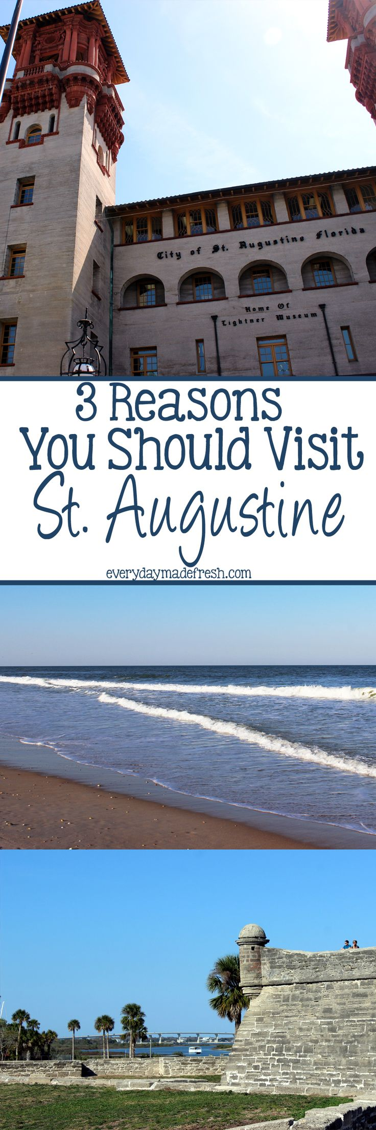 I researched high and low before our day trip to St. Augustine, and here are 3 Reasons You Should Visit St. Augustine. | EverydayMadeFresh.com http://www.everydaymadefresh.com/3-reasons-visit-st-augustine/