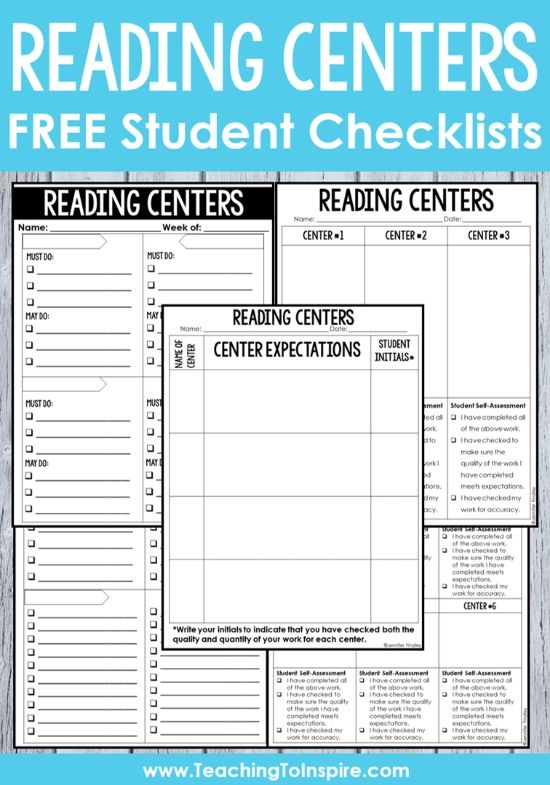 Use these FREE reading center student checklists to help manage your reading centers and hold your students accountable during reading station time.