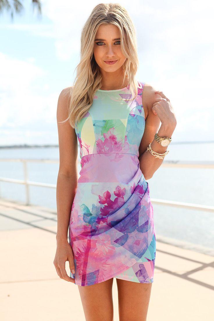 Summer. Dress. Fashion. Love. Pastels. Watercolor.