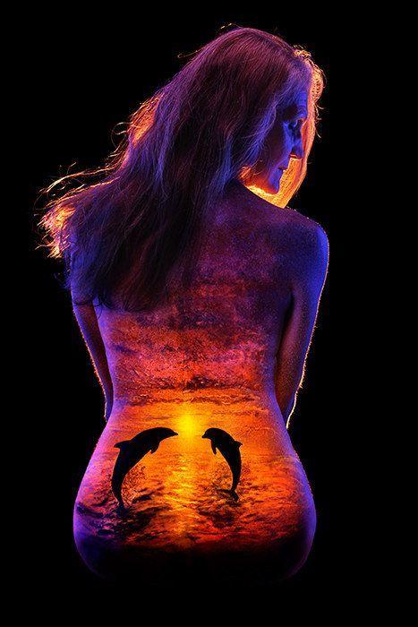 Best John Poppleton Images On Pinterest Black Lights Body - Amazing black light body art photography john poppleton