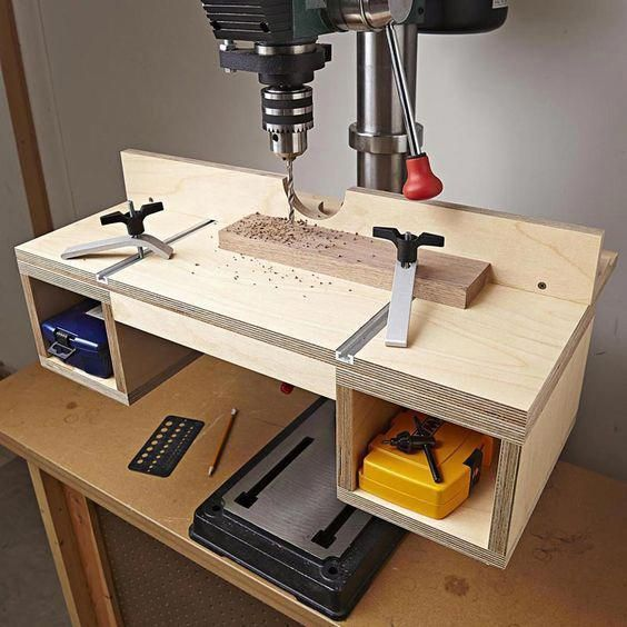 Do-it-all Drill-press Table Woodworking Plan from WOOD Magazine #woodworkingplan...