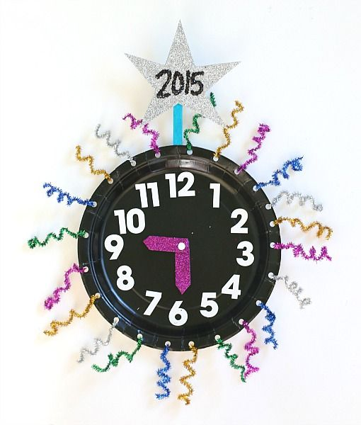 Are you celebrating New Year's Eve with kids this year? Help them countdown to the new year with these paper plate countdown clocks!