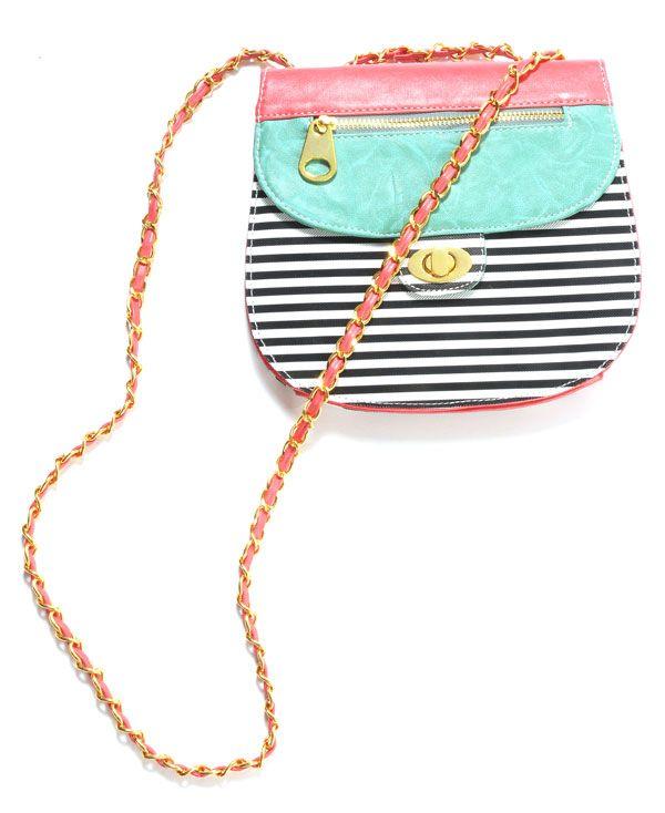 stripe color block cross body: Stripes Colors, Blocks Crosses, Colors Mixed, Crosses Body Bags, Crosses Body Handbags, Summer Purses, Crosses Body Purses, Summer Colors, Colors Blocks