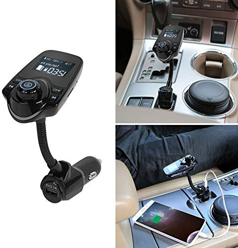 GPCT Bluetooth Wireless [Hands-Free Calling] Built-In-Mic FM Radio Transmitter Car Charger Adapter Kit. TF/SD Card Slot/AUX- iPhone 7/6s/6 Galaxy S7/S6/HTC/Nokia/iPad/Windows Android Smart Cell Phone #GPCT #Bluetooth #Wireless #[Hands #Free #Calling] #Built #Radio #Transmitter #Charger #Adapter #Kit. #TF/SD #Card #Slot/AUX #iPhone #Galaxy #S/S/HTC/Nokia/iPad/Windows #Android #Smart #Cell #Phone