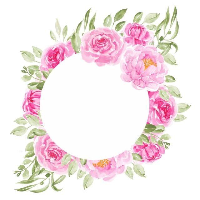 Marcos De Circulo De Flores De Peonia Rosa Para Invitacion De Boda Flor Peonia Circulo Png Y Vector Para Descargar Gratis Pngtree In 2021 Pink Flowers Background Watercolor Flower Vector Flower Frame