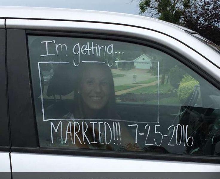 Super cute idea! Car window painting for wedding activities!!!