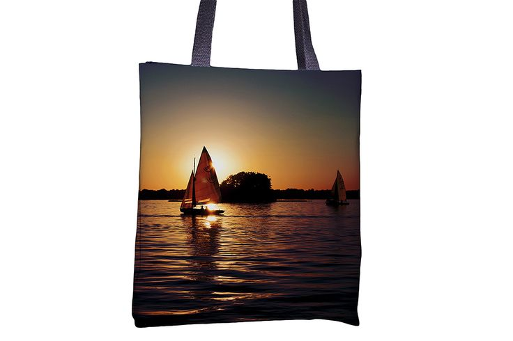 """Tote Bag - """"Sailing Silhouettes"""" http://www.lawleypop.ca/shop/product/tote-bag-sailing-silhouette/ OFFICIAL LAWLEYPOP MERCHANDISE #allover #full #seamless #doublesided #print #printed #printing #lawleypop #lwleypop #lawleypopdesign #lawleypopmerch #fashion #accessories #style #bags #totes #totebags #handbags #shoulderbags #chic #street #urban #unique #custom #photography #landscape #nature #beach #summer #lake #river #sail #boat #fishing #boating #sunset #horizon #sky #label #logo #brand…"""
