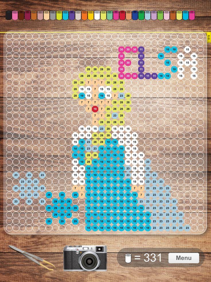 Pärlplatta Elsa