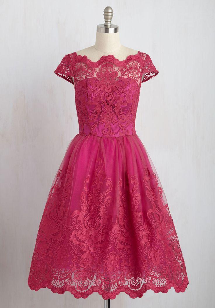 Exquisite Elegance Dress in Fuchsia