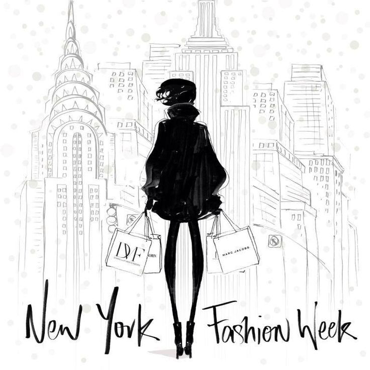 NY Fashion Week by Megan Hess illustration| Be Inspirational ❥|Mz. Manerz: Being well dressed is a beautiful form of confidence, happiness & politeness