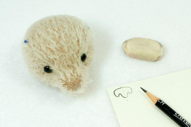 вышивка носика мишки