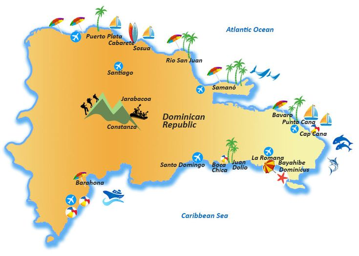 Die besten 25 Map of dominican republic Ideen auf Pinterest