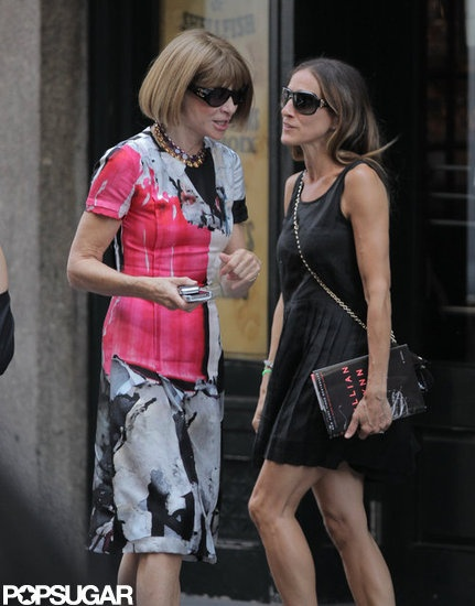 Sarah Jessica Parker and Anna Wintour in NYC. Two amazing fashionistas