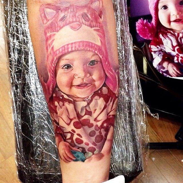 Cute baby tattoo