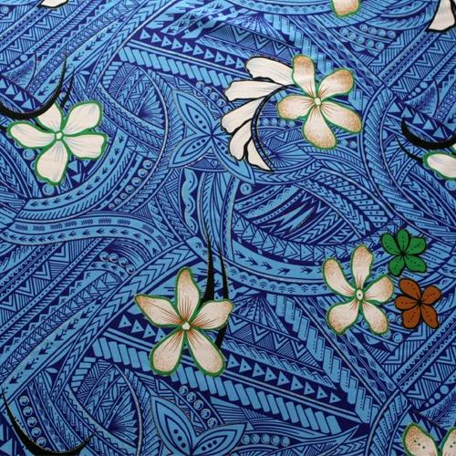 Samoan fabric. Love the blue.