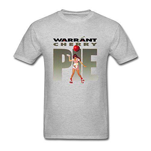 MINNRI Men's Warrant Cherry Pie Rock Music Band T-shirt G...
