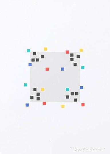 """Verena Loewensberg: """"Vier Variationen um ein Quadrat 1"""" (1980) http://www.kunsthaus-artes.de/de/784736.00/Bild-Vier-Variationen-um-ein-Quadrat-1-1980/784736.00.html#cgid=t_geometrie&start=22"""