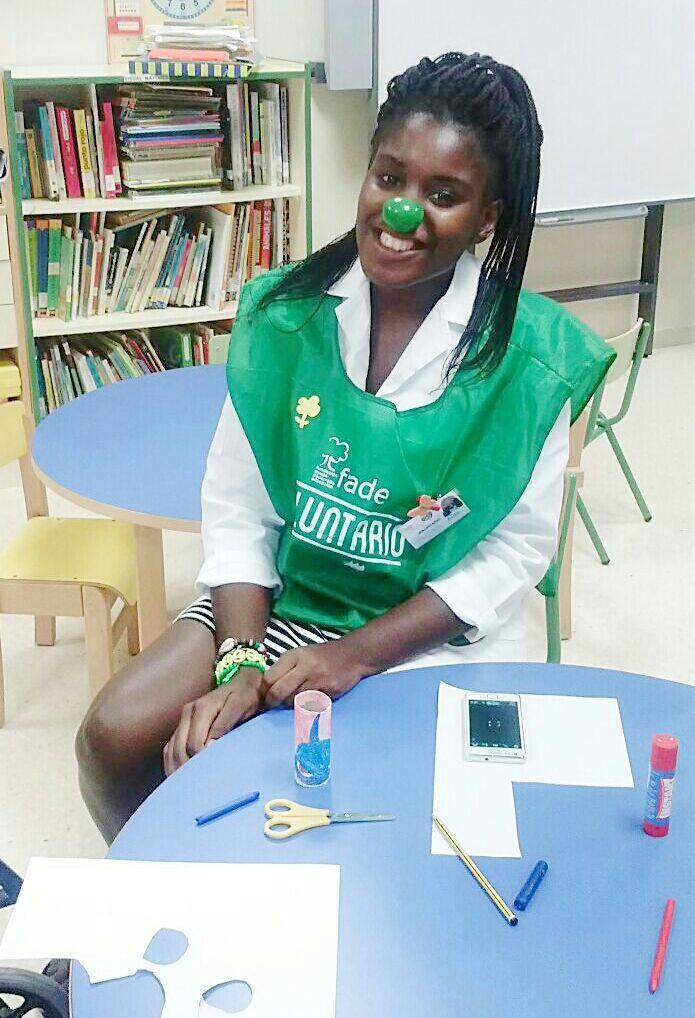 Cata. Soy voluntaria en Fundación FADE con el hospital virgen de la arrixaca en Murcia