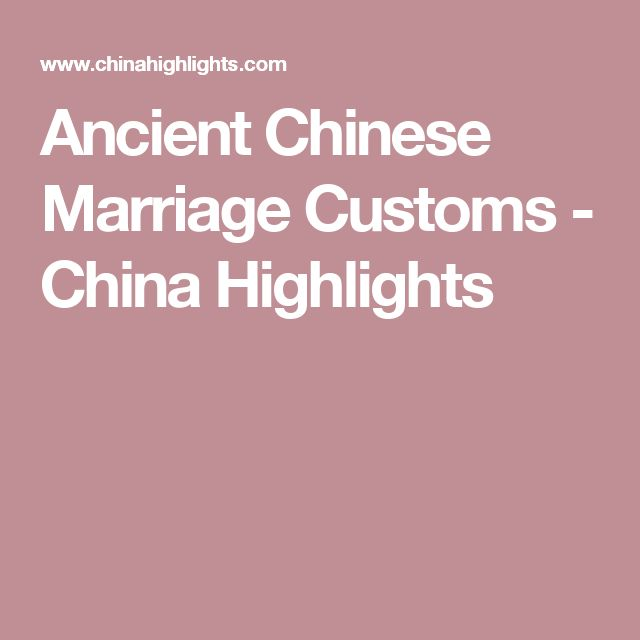 Ancient Chinese Marriage Customs - China Highlights