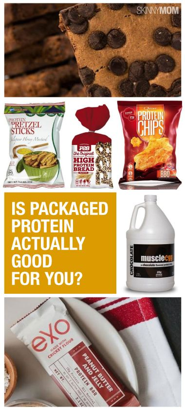 Packaged proteins products; both good and bad.