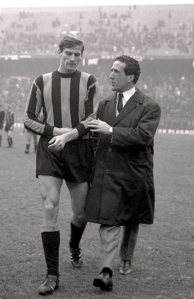 Giacinto Facchetti y Helenio Herrera, dos simbolos del gran Inter de Milan