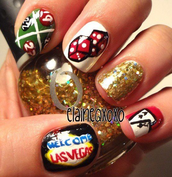 79 best Las Vegas / Casino Nail Art images on Pinterest | Vegas ...
