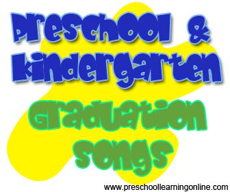 Preschool graduation songs, kindergarten graduation songs and activities for children leaving preschool. #preschoolgraduation  #prekgraduation http://www.preschoollearningonline.com/preschool-kindergarten-graduation/pre-k-graduation-songs-for-kids.html