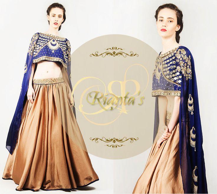 Cape sleeved lehenga, ethnic wear. indian wear, fusion wear, indo western wear.   #Riantas