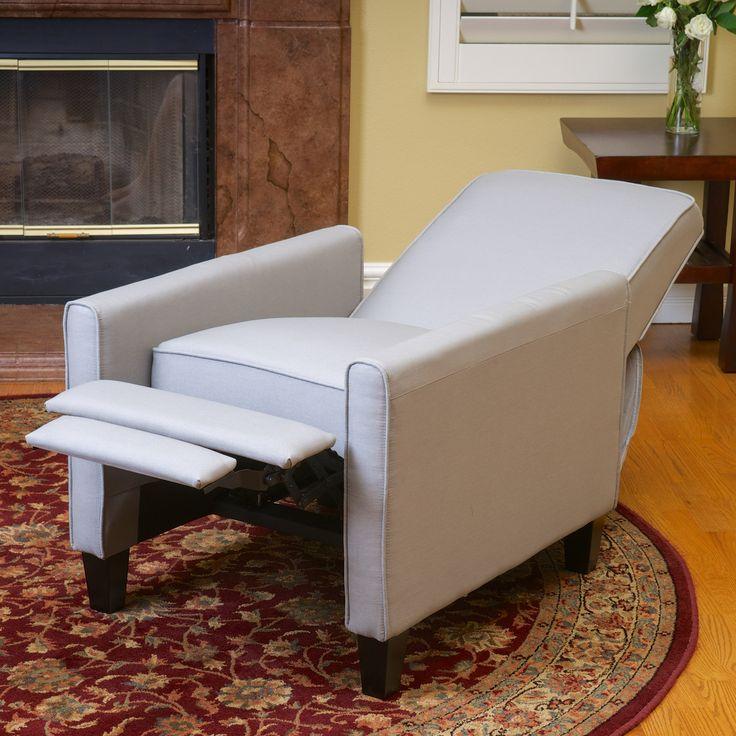 Lucas Grey Fabric Recliner Club Chair