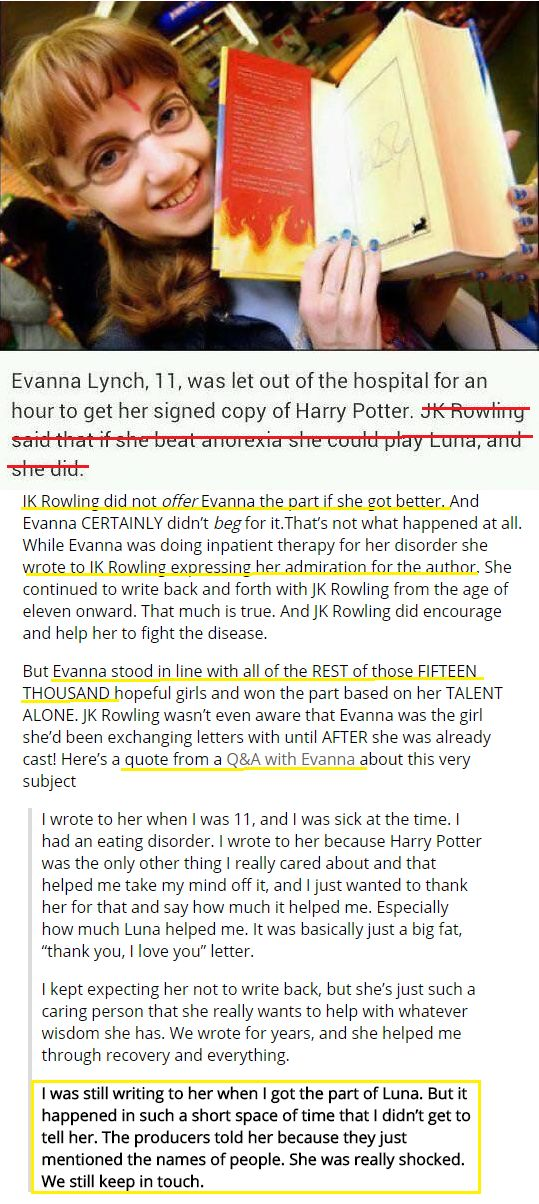The real story about how evanna lynch got the part
