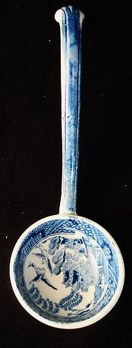 Antique China Blue Willow Sauce Ladle