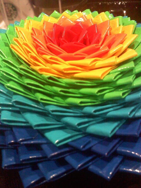 Rainbow Duct Tape Flower