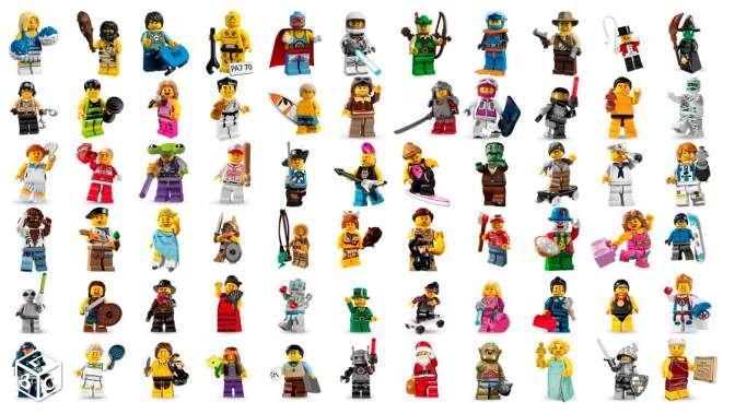 Lego Minifigures séries 1 à 15