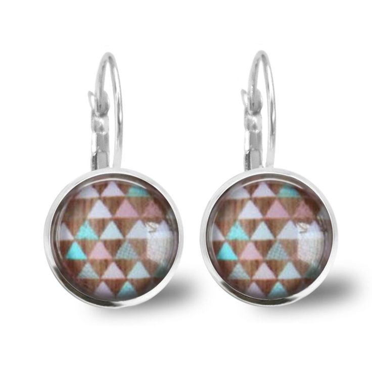 Chatterbox City - Funky Triangles Lever Back Glass Cabochon Earrings, $10.00 (http://www.chatterboxcity.com.au/funky-triangles-lever-back-glass-cabochon-earrings/)