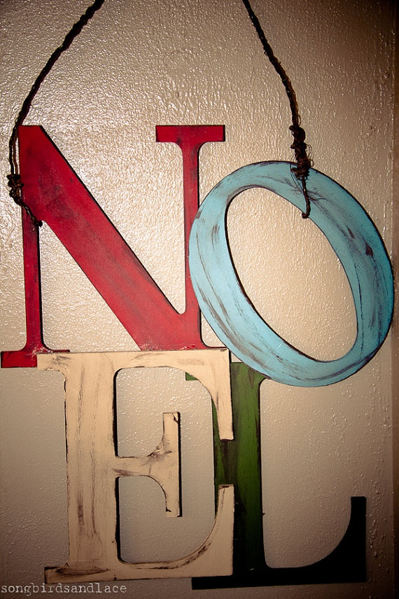 I like the distressed and aged look of the letters. Fun to hang on the wall or even front door