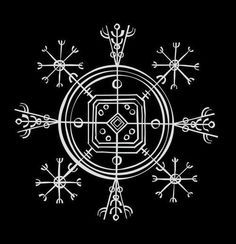 Hulinhjálmur (helm of disguise), an Icelandic magical sign that gives the power to become invisible........i'd like asa tattoo