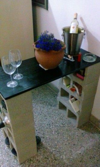 Mesa con bloques