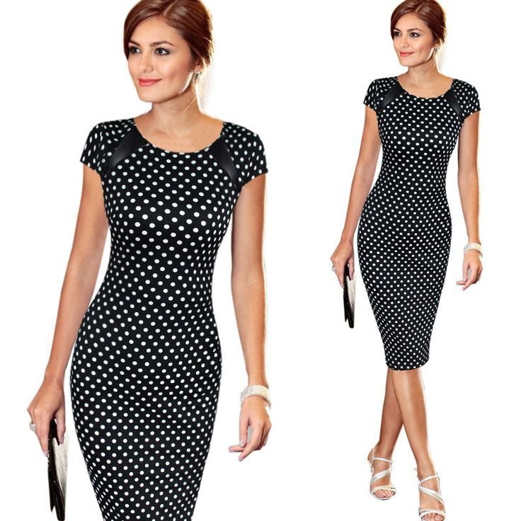 Fashion Women Dress Elegant Business Casual Wear To Work Party Stretch Sleeveless Bodycon 013