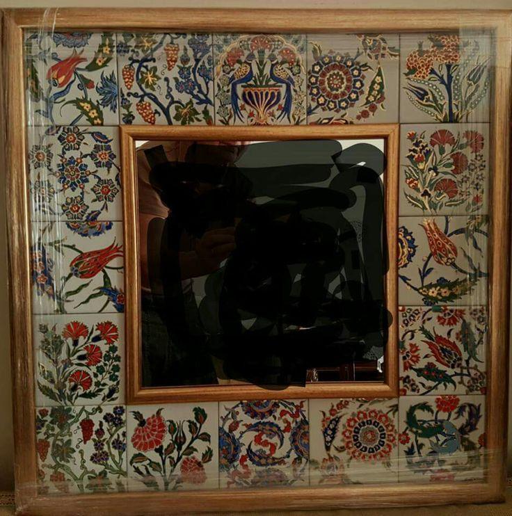 Porselen çalışmalarım  2016  Ayna çerçevesi   57 × 57 cm.  Semra Yahya