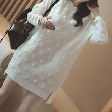 Kasan - Maternity Dotted Pullover Dress