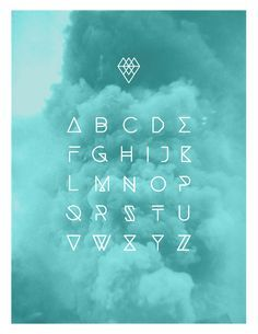 Typographie by Andréanne Teasdale, via Behance, love the colour of the cloud too