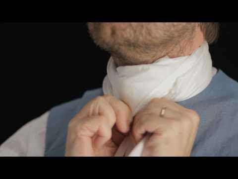 How to tie a cravat...Just in case we ever need to know this suddenly ;)