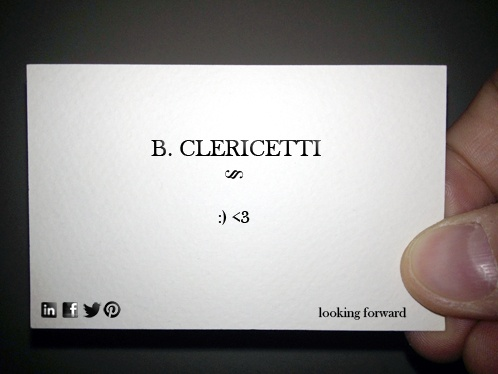 13/02/14 - Happy Valentine's day... love works! #bclericettijobs #businesscard #newjob