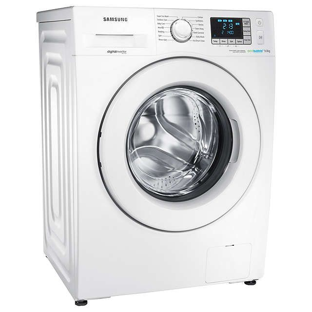 BuySamsung WF90F5E3U4W ecobubble™ Freestanding Washing Machine, 9kg Load, A+++ Energy Rating, 1400rpm Spin, White Online at johnlewis.com